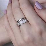 Серебряное кольцо Милена с фианитами