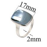 Серебряное кольцо с гематитом Эмма