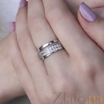 Серебряное кольцо Милена с фианитами 000045693
