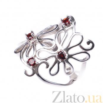 Серебряное кольцо Инга с гранатом 000096623