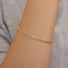 Золотой браслет Селена с алмазной гранью, 3,5мм