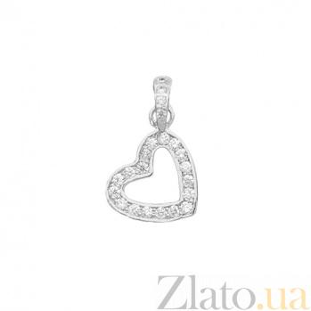 Золотой подвес с бриллиантами Сердце 000016030