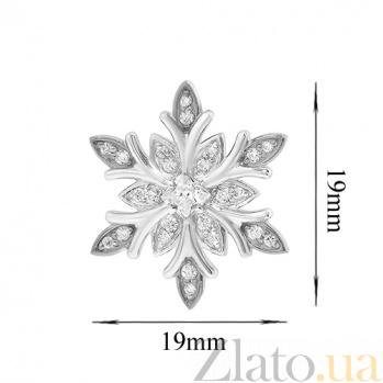 Серебряная подвеска Снежинка с фианитами 000027342