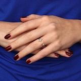 Серебряное кольцо Звездная гармония с фианитами