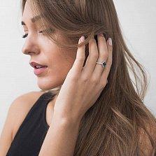 Золотое кольцо Лорентина с сапфирами и бриллиантами