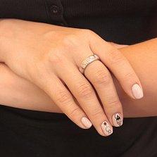 Серебряное кольцо Нежность с розовыми опалами