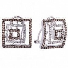 Золотые серьги Астани с бриллиантами