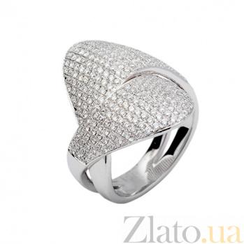 Кольцо из белого золота с бриллиантами Переплетение 000026943