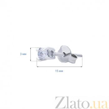 Серебряные серьги гвоздики с цирконами Звездная ночь AQA--2202070/3