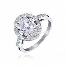 Серебряное кольцо с фианитами Девика