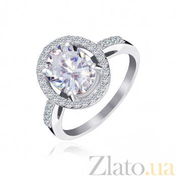 Серебряное кольцо с фианитами Девика 000025521