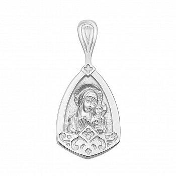 Серебряная ладанка Божья Матерь с молитвой 000133523