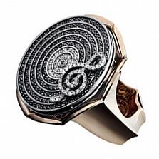 Золотое кольцо с бриллиантами Мелодия