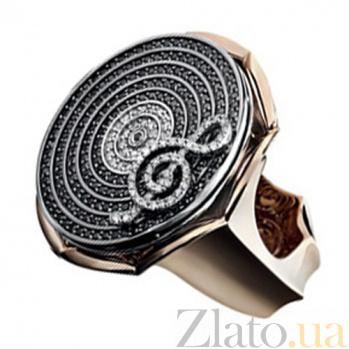 Золотое кольцо с бриллиантами Мелодия KBL--К1790/комб/брил