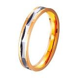 Золотое обручальное кольцо Сияние влюбленных сердец