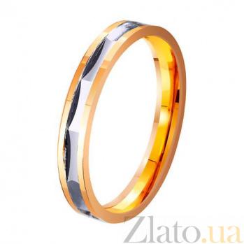 Золотое обручальное кольцо Сияние влюбленных сердец TRF--4111318