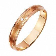 Золотое обручальное кольцо Палермо с фианитом