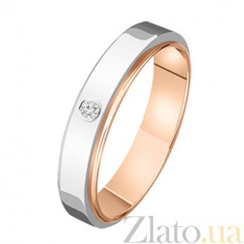 Обручальное кольцо с бриллиантом Моя мечта KBL--К1489/комб/брил