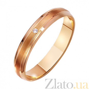 Золотое обручальное кольцо Палермо с фианитом TRF--4121260