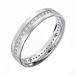 Кольцо из белого золота Искреннее чувство с бриллиантами