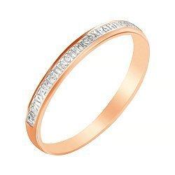 Кольцо из серебра Крепкая вера с позолотой 000039591