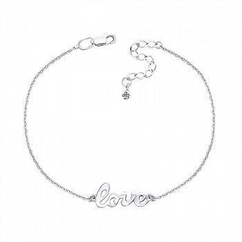 Серебряный браслет с подвеской Love 000134076