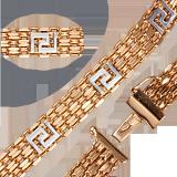 Золотой браслет Дабл