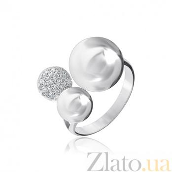 Серебряное кольцо с фианитами Триумф стиля 000028116