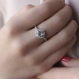 Серебряное кольцо Элис с голубым топазом и фианитами
