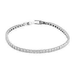 Серебряный браслет с цирконием 000141177