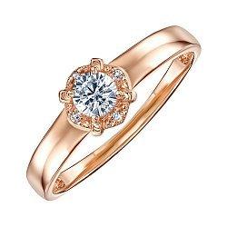 Кольцо из золота  с фианитом 000011468