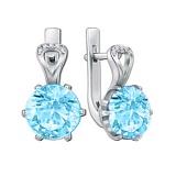 Серебряные серьги Мелина с голубым кварцем
