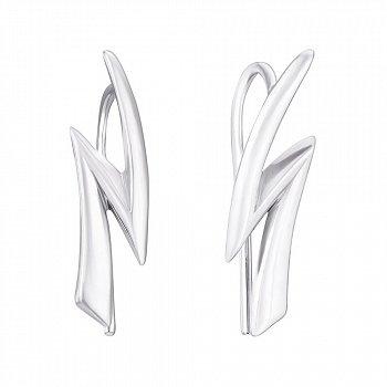 Серебряные серьги-каффы 000125515