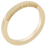 Обручальное кольцо Forever in love в желтом золоте