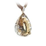 Подвес из желтого золота с топазом и бриллиантами Время любви