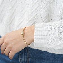 Золотой браслет для шармов Настроение с фианитами