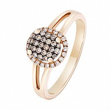 Золотое кольцо Броммен с бриллиантами