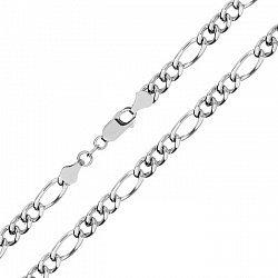 Серебряная цепь с родированием, 5 мм 000071935