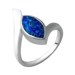 Серебряное кольцо с синим опалом 000074447