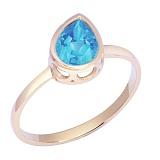 Кольцо в красном золоте Мелани с голубым топазом