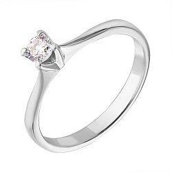 Помолвочное кольцо из белого золота с бриллиантом 0,15ct 000050442
