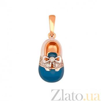 Золотая подвеска Туфелька VLT--Т365-6