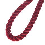 Шелковый красный шнурок Лилиан с серебряной застежкой