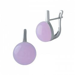 Серебряные серьги Арника с розовыми кварцами