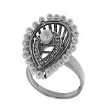 Серебряное кольцо с жемчугом Венера
