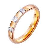 Золотое обручальное кольцо Трепет и нежность с фианитами