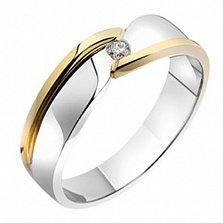 Золотое обручальное кольцо с бриллиантом Сюзанна