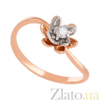 Золотое кольцо с бриллиантом Лайл VLN--122-1597