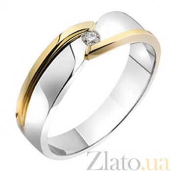 Золотое обручальное кольцо с бриллиантом Сюзанна KBL--К1722/комб/брил