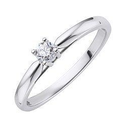 Кольцо из белого золота с бриллиантом 000139757